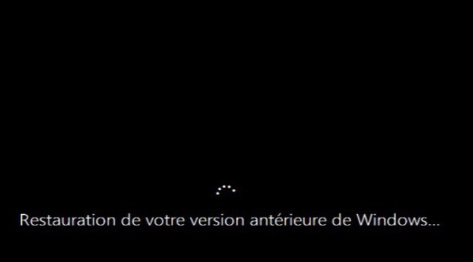 Restauration de votre version antérieure de Windows