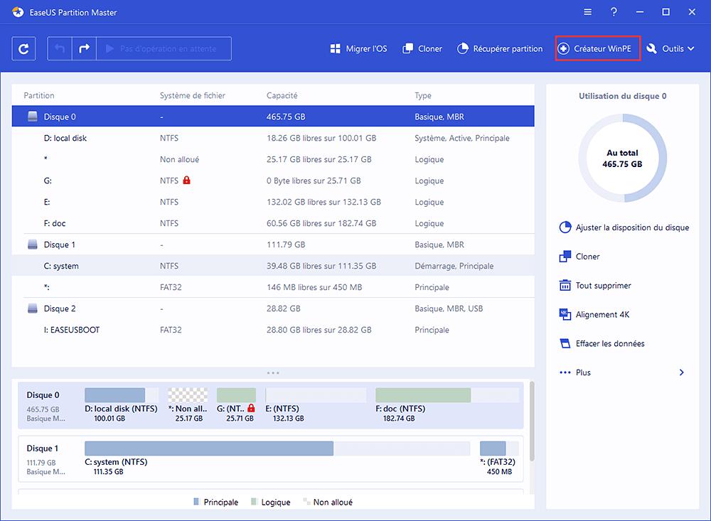 Windows 8 réparation disque de démarrage Télécharger